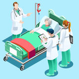 Medyczna szkolenie lekarka Uczy ucznie Wektorowi Isometric Pe royalty ilustracja