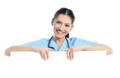 Medyczna szyldowa pielęgniarka Fotografia Stock