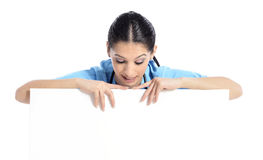 Medyczna szyldowa pielęgniarka Zdjęcia Stock