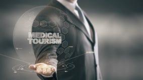 Medyczna turystyka z holograma biznesmena pojęciem zdjęcie wideo