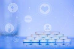 Medyczne Abstrakcjonistyczne ikony zdjęcia royalty free
