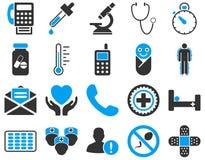 Medyczne bicolor ikony Obrazy Royalty Free