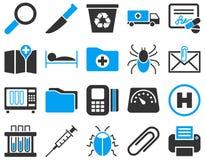 Medyczne bicolor ikony Obraz Royalty Free