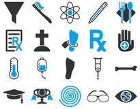 Medyczne bicolor ikony Fotografia Stock
