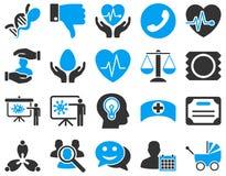 Medyczne bicolor ikony Zdjęcia Stock
