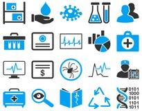 Medyczne bicolor ikony Zdjęcie Royalty Free