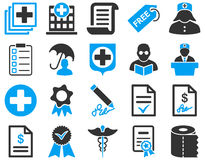 Medyczne bicolor ikony Obrazy Stock