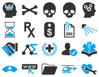 Medyczne bicolor ikony Fotografia Royalty Free