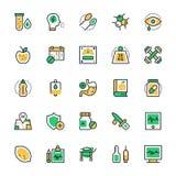 Medyczne i zdrowie Wektorowe ikony 2 Obrazy Stock
