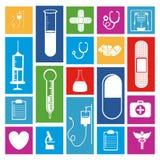 Medyczne ikony Obrazy Stock