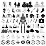 Medyczne ikony Fotografia Stock