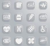 Medyczne ikony po prostu Zdjęcie Stock