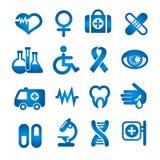 Medyczne ikony ustawiać ilustracja wektor