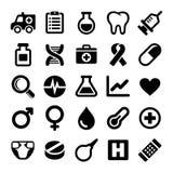 Medyczne ikony ustawiać Zdjęcia Royalty Free