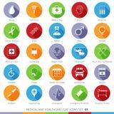Medyczne ikony Ustawiają 01F Zdjęcia Stock