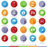 Medyczne ikony Ustawiają 02F Zdjęcia Stock