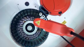 Medyczne maszynowych czeków próbki osocze, automatyzująca technologia zbiory wideo