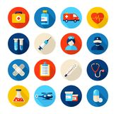 medyczne opiek zdrowotnych ikony Obraz Royalty Free