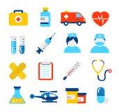 medyczne opiek zdrowotnych ikony Obrazy Stock