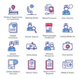 Medyczne & opieka zdrowotna ikony Ustawiają 2 - kontur serie Zdjęcie Royalty Free