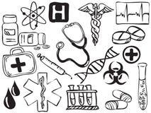 medyczne rysunkowe ikony Fotografia Royalty Free