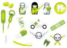medyczne stomatologiczne ikony Zdjęcie Stock