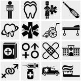 Medyczne wektorowe ikony ustawiać. Fotografia Stock
