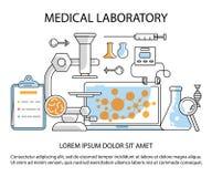 Medycznego laboratorium strona internetowa Zdjęcie Stock