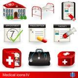 medycznej 4 ikony Zdjęcie Royalty Free
