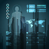 Medyczni infographic elementy Zdjęcie Royalty Free