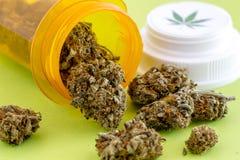 Medyczni marihuana pączki, ziarna i fotografia royalty free