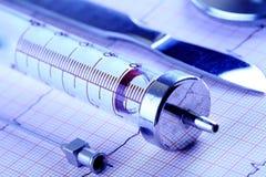 Medyczni narzędzia w rzędzie fotografia stock