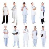 Medyczni pracownicy, lekarki, pielęgniarki Obrazy Royalty Free