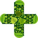 Medyczny Ayurveda logo royalty ilustracja