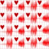 Medyczny bezszwowy deseniowy kardiogram Zdjęcie Royalty Free