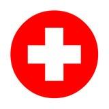 Medyczny bielu krzyża symbol Obrazy Royalty Free