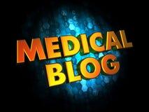 Medyczny blogu pojęcie na Cyfrowego tle. Zdjęcie Royalty Free