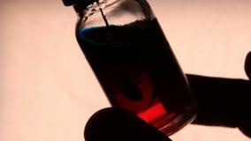 Medyczny buteleczki zakończenie zbiory wideo
