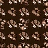 medyczny deseniowy bezszwowy Płaskie ikony ludzcy organy royalty ilustracja
