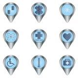 Medyczny guzika set ilustracji