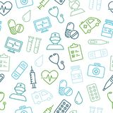 Medyczny I opieka zdrowotna ikon Bezszwowy wzór Obraz Royalty Free
