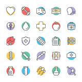 Medyczny i zdrowie Cool Wektorowe ikony 7 Zdjęcia Stock