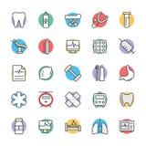 Medyczny i zdrowie Cool Wektorowe ikony 8 Fotografia Stock