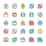 Medyczny i zdrowie Cool Wektorowe ikony 1 Obrazy Stock