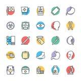 Medyczny i zdrowie Cool Wektorowe ikony 6 Zdjęcia Royalty Free