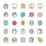 Medyczny i zdrowie Cool Wektorowe ikony 2 Zdjęcie Stock