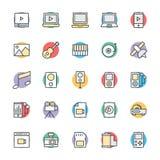 Medyczny i zdrowie Cool Wektorowe ikony 3 Obraz Stock
