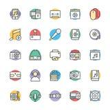 Medyczny i zdrowie Cool Wektorowe ikony 5 Zdjęcia Stock