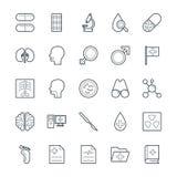 Medyczny i zdrowie Cool Wektorowe ikony 4 Zdjęcia Stock