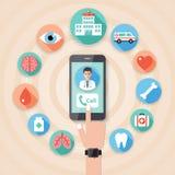 Medyczny icons-09 i szpitalu ilustracja wektor